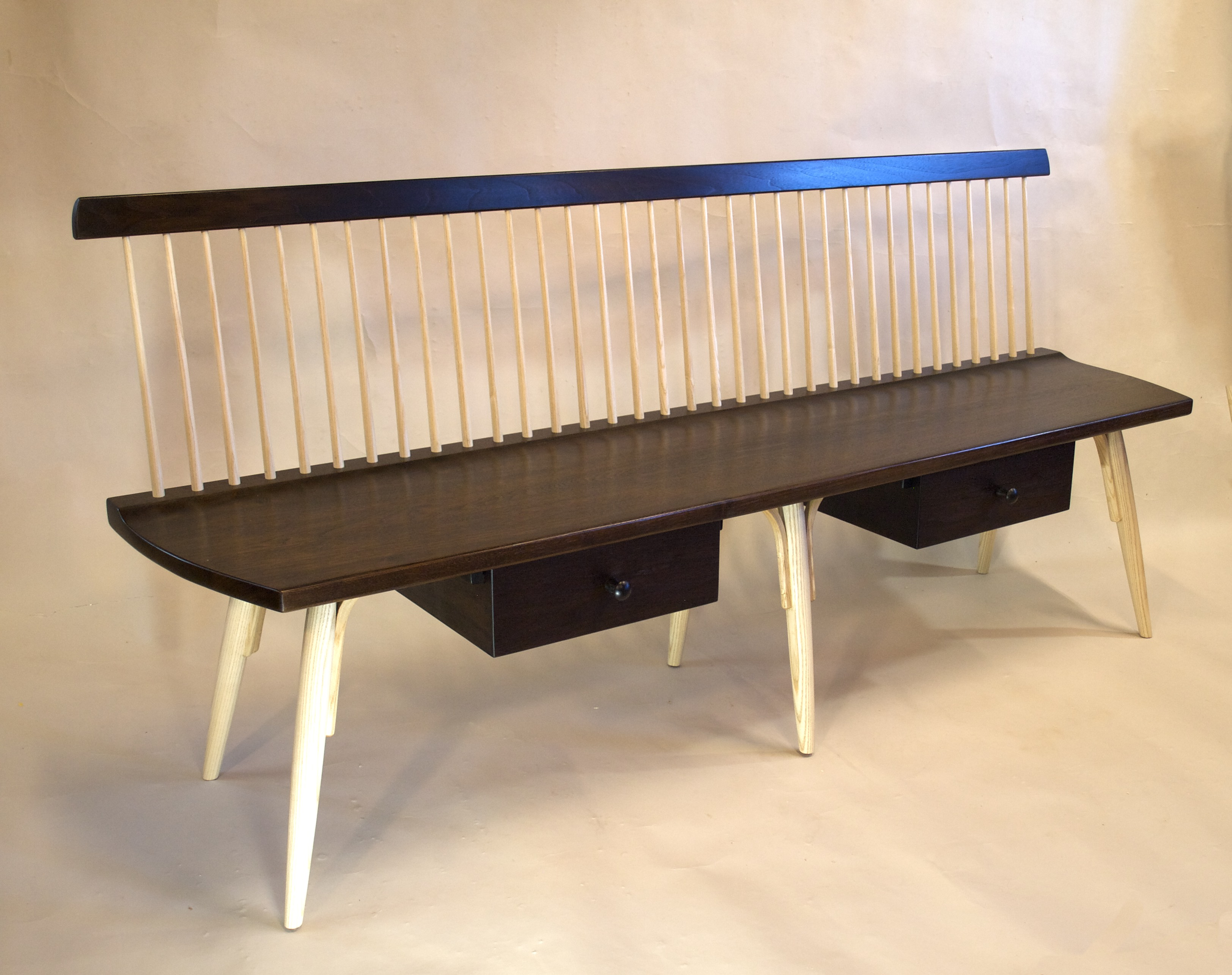 mid century modern, windsor bench