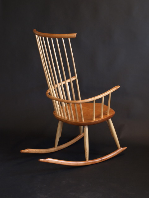Cherry Windsor Rocking Chair
