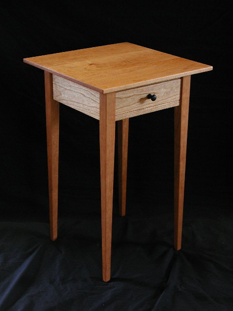 Night Stand Table Designs : Cherry end table handmade in vermont