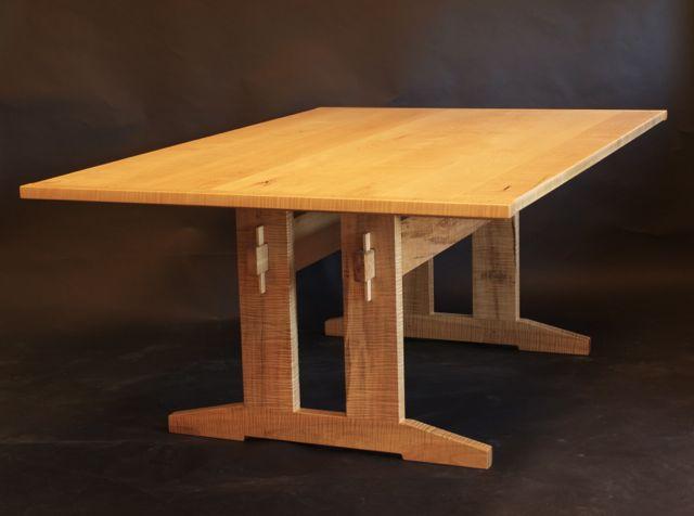 Maple Trestle Table By Timothy Clark Www Timothlyclark Com